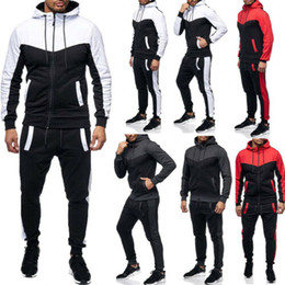 Hoodie Hosen Sets Trainingsanzug Jogging Sweatsuit Activewear Herren Trainingsanzug Set Hoodies Joggers Set Herbst Winter Gym Active Wear