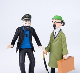 anime collectables figures Australia - Action Toy Anime Figures Sets Doll The Adventures of Tintin PVC Cartoon Action Figure Collectable Model Toy for Kids Gift DHL