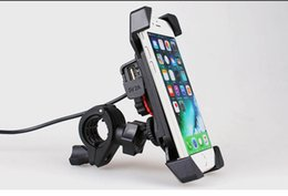 Motorcycle cell phone charger online shopping - Motorcycle Cell Phone Mount Holder Charger Mobile Phone Bracket with USB Holder For Phone