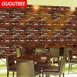 stone art landscaping Australia - Decorate home 3D stone brick cartoon art wall sticker decoration Decals mural painting Removable Decor Wallpaper G-2556