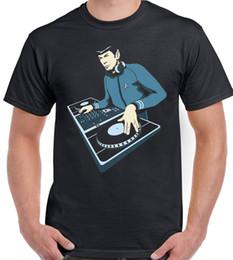 Star Trek Spock Australia - DJ Spock - Mens Funny T-Shirt Dance Music Decks Turntable Star Trek Spring Summer Short Sleeve Casual Reasonable Wholesale