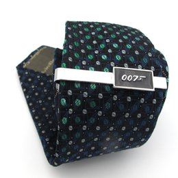 $enCountryForm.capitalKeyWord Australia - iGame Superheroes Tie Clips Quality Brass Material Novel Black Color 007 James Bond Tie Bar For Men Free Shipping