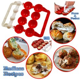 homemade tools 2020 - Newbie Meatballs Mold Stuffed Fish Meat Balls Maker ABS Homemade Mould DIY Kitchen Cooking Tools DHL Free Shipping W9595