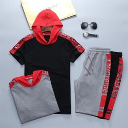 b3f3cabc3eac1e Summer Mens Tracksuit Maserati Printed Men Stall Collar O-Neck Short  Sleeves Pullover With Casual Jogger Pants Suits Homme Sport suit M2