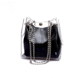 luxury chain crossbody handbag 2019 - 2019 new hot transparent Two-piece set Bucket bag wallet designer crossbody shoulder bag designer luxury handbags purses
