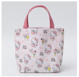 7e2c7e39fc4d Lovely Pink Hello Kitty Canvas Bag Kids Lunch bag Picnic Thermal Lunch Bags  For Women Office bolsa almuerzo lancheiras L10