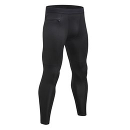 $enCountryForm.capitalKeyWord Australia - Adisputent Men Fitness Pants Zipper Pocket Exercise Leggings High Elastic Tights Quick-Dry Sweat Absorbed Trousers Plus Size