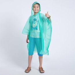 $enCountryForm.capitalKeyWord NZ - Disposable Children Poncho Raincoat Waterproof Transparent Kids capa de chuva infantil menino Rainwear Camping Pluie Rain Coat