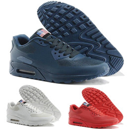 low priced 6779a aa932 Hot Sale Chaussures Hommes 90 Hyp Prm Qs Running Shoes Sale Online Fashion Independence  Day Zapatillas Usa Flag Sport Sneakers 40 -46