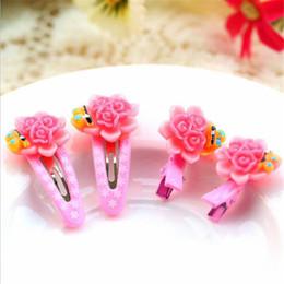 Hair Pin Stick Clips NZ - 4pcs set Korean Fashion Fruits Hair Clip Children Girls Cute Flower Animal Bobby Pins Hair Accessories Candy Color Hairpins
