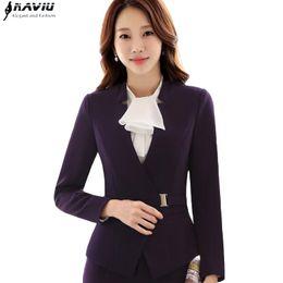 5481ba25d57 New Elegant women clothes business blazer winter formal fashion slim long  sleeve jacket office ladies plus size work wear