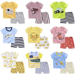 $enCountryForm.capitalKeyWord Australia - More Style Animal Pattern Kids Clothing Sets Summer Baby Clothes Cartoon For Boys Fashion T-shirt Shorts Children Suits