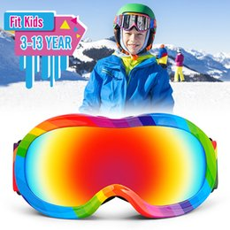 $enCountryForm.capitalKeyWord Australia - Professional 3-13 Years Kids Skiing Glasses Winter Children Snowboard Goggles Boys Girls Ski Goggles Eyewear Anti-fog Snow Glass