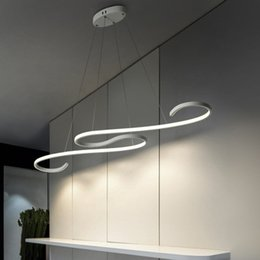 Acrylic Hanging Pendant Light Australia - Modern LED Pendant Lamp Acrylic Hanging Lamps For Living Room Dining Room L108cm 45W Led Lighting Fixtures Lustre AC110V 220V