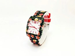 Women Watches cheap price online shopping - Promotion products colorful Fashion Flower pattern Silicone watch with cheap price for branded sport women watches and kids