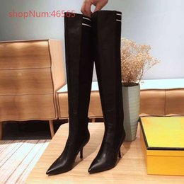 Springs Fashion Heels Australia - European and American early spring new fashion socks stitching, high-heeled short boots British wind boots, size 35-39