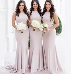 $enCountryForm.capitalKeyWord Australia - Elegant Long Mermaid Bridesmaid Dresses Sexy Sweep Train Maid of Honor Gowns Wedding Guest Party Wear
