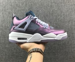 Best Shoes For Tennis Australia - 2019 Best NEW 4 IV Chameleon Purple Mesh Breathable Men's Basketball Shoes For High Quality 4s Designer Sports Sneakers Trainers Size 36-46
