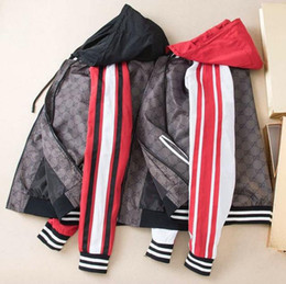 mens high collar zipper jacket 2019 - 2019 New Spring Autumn Fashion Mens Designer Jackets Hooded Letter Print Casual High Quality Luxury Mens Coat Size M-2XL