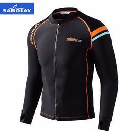Quick Dry Shirts For Men Australia - Men Long Sleeve Swimsuit for Women Surfing Rash Guard Tight Swim Shirt Quick Dry Anti UV Rashguard for Men Plus Jacket J