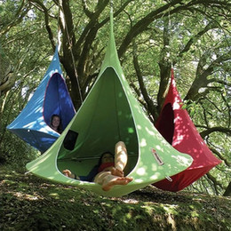 outdoor patio swings UK - Patio Furniture Tent Hanging-Chair Cocoon Swing Teepee-Tree Hamaca Outdoor Hammock Silkworm