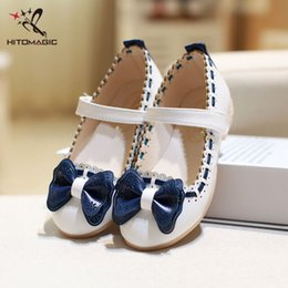 Leather Shoes For Kids Australia - HITOMAGIC Girls Leather Shoes For Party Children Shoes Girls Wedding Princess Dance Bow Tie Children's Footwear Brand Kids Girl