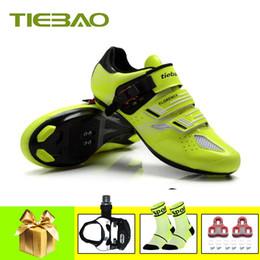 $enCountryForm.capitalKeyWord Australia - Tiebao pro cycling shoes road men women self-locking SPD-SL pedals breathable superstar zapatillas deportivas hombre bike shoes