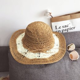 crochet hat bands Canada - Band New Women'S Crochet Hollow Dome Summer Hats For Women Mesh Straw Hat Foldable Sun Hat Fashion Beach Hat Sombrero