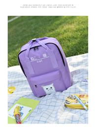 PoPular girl backPack online shopping - Japanese popular schoolbag Cat Print Student Girls Pack College backpack Color red purple black bean green hidden blue rose red gr