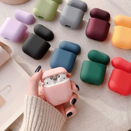 pouch for headphones UK - Pouch Protective Silicone Case for Apple Famous Brand Designer Airpods Pro Case Wireless Bluetooth Headphone AirPods Case