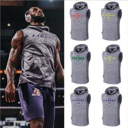 Men s sleeveless hoodies online shopping - Basketball Sports Hoodies Irving James Bryant training suit leisure loose sleeveless hooded basketball training Sweatshirt A