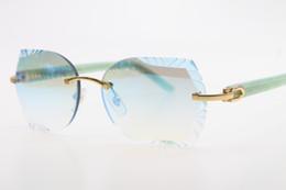 699ee53de2 Venta al por mayor Gafas de sol sin montura óptica Adumbral 8200761 Verde  Armas Aztecas Gafas de sol sin montura con logotipo Unisex Tallado Azul  espejo ...