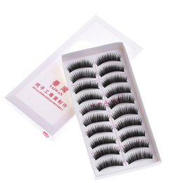 $enCountryForm.capitalKeyWord Australia - HOT 10 Pairs Set Long Black False Eyelashes Makeup Natural Thick Fake Eye Lashes Women Girls Gifts