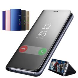 $enCountryForm.capitalKeyWord Australia - Official Metallic Plating Smart Mirror Window View Stand Kickstand Flip Cover Case For iPhone XS Max XR X 8 7 6 6S Plus Anti-shock