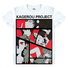 shirt heat NZ - Kagerou Project T-Shirts Multi-style Short Shirts Kagero Purojekuto Heat Haze Project Mekakucity Actors Kido Cosplay Shirt Tee-Style175-NO02