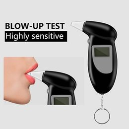 Digital lcD alcohol breath analyzer online shopping - Promotion Professional Pocket Digital Alcohol Breath Tester Without Backlight Analyzer Detector Test Testing LCD Display