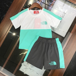 Clothes Kitting Australia - 2019 summer children's clothing boy suit color matching shorts with color T-shirts sets kits kids clothes best quality