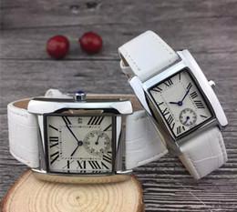 Ladies Gems Australia - Luxury Watches Unisex Women Men Watch Square Diamonds Bezel Leather Strap Top Brand Quartz Wristwatches for Men Lady Best Gift