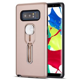 building brackets NZ - Loop Ring Car Absorption Phone Cover Hide Bracket Build In Kickstand Hybrid 2 in 1 Protective Case for Samsung Note 8