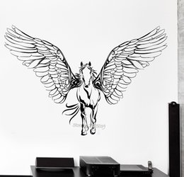$enCountryForm.capitalKeyWord NZ - New Horse Wings Wall Decals Vinyl Wall Stickers For Kids Rooms Art Pegasus Mural Waterproof Decal Modern Poster Home Decor