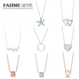 Green Leaf Charm Australia - FAHMI Charm Gift 925 Sterling Silver Starfish Olive Leaf Heart TIF Attractive Elegance Temperament Bracelet World Jewelry