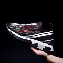 $enCountryForm.capitalKeyWord Australia - Woman mans shoes designer socks shoes fashion rhinestone sock shoes high quality sock sneakers size 35-45 model ML02