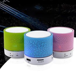 free music for samsung phones Canada - Portable Mini Bluetooth Speakers Wireless Hands Free Led Speaker Tf Usb Fm Sound Music For iPhone X Samsung Mobile Phone Bluetooth Device A5