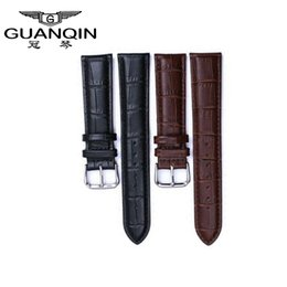 19mm watch bracelet Australia - atches Accessories Watchbands Genuine Watches cow leather bracelet high quality buckle Wrist Watch Band leather strap for men watch 19mm,...