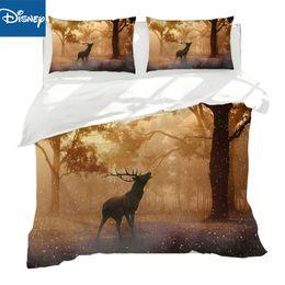 Discount set cover sale - New Textiles Deer Elk Striped ua queen size Bedding Sets 3 4pcs Contain Duvet Cover full size Bed Sheet Pillowcase hot s
