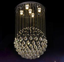 $enCountryForm.capitalKeyWord Australia - Modern Chandelier LED K9 crystal chandeliers lights stairs hanging light lamp Indoor lighting decoration GU10 chandelier light fixtures