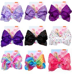 mexican headwear 2021 - JOJO Large Ribbon Hair Bows Barrettes 8Inch Baby Girls JOJO SIWA Hair Clips Accessories for Kids Colorful Rhinestone Children Headwear Hot