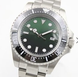 $enCountryForm.capitalKeyWord Australia - Top 2813 Sapphire Glass 44MM Automatic Silver Stainless Steel Bracelet Date Mens Watches Green Dial A Ceramic Top Ring Luminous Hands