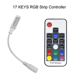 mini rf remote rgb Australia - Umlight Led Strip And Module Use 17 Key Mini Rf Wireless Led Rgb Remote Controller With 4pin Female 22 Mode