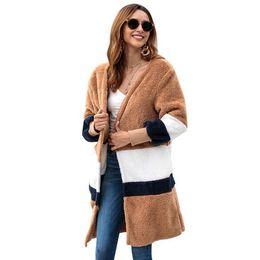 $enCountryForm.capitalKeyWord UK - Women's new European and American autumn and winter explosion models loose sweater long cardigan plush coat